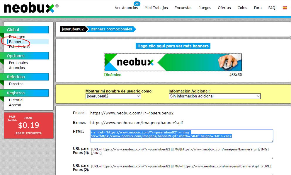 Referidos en NeoBux